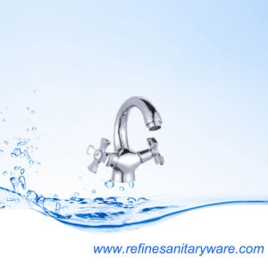 Comtemporary Dual Lever Bathroom Basin Faucet (R1008860CY)