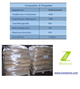 Humizone Slow Released Fertilizer: Humic Acid Shining Granular (HA-G) pictures & photos