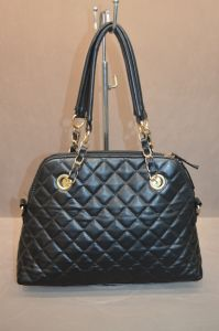 Embroidery Black PU Leather Shoulder Bag
