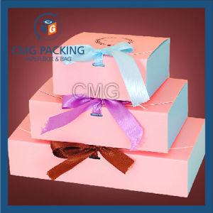 Lovely Nice Pink Printing Macaron Packing Box (CMG-cake box-005) pictures & photos