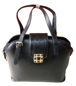 New PU Leather Handbags Fashion Women′s Handbags Color Black pictures & photos