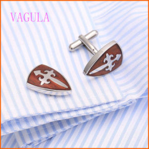 VAGULA Stylish French Shirt Rosewood Stainless Steel Red Wood Cufflinks 128 pictures & photos