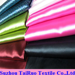 Satin Colors with Silky Touch of Polyester Silk Satin Fabric pictures & photos