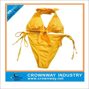 Women′s Fluorescein Triangle Bikini with Custom Logo pictures & photos