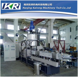 Conical Parallel Co-Rotating Twin Screw Extruder and Small Plastic Recycling Mini Granulator Machine pictures & photos