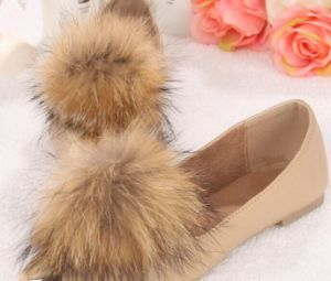 Wholesale Raccoon Fur Ball for Shoes pictures & photos