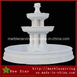 Garden Decoration White Marble Natural Stone Sculpture Water Feature Fountain pictures & photos