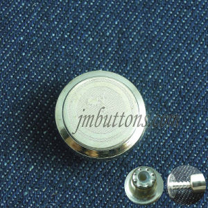 Flat Gold Fasteners Round Type Metal Buttons pictures & photos