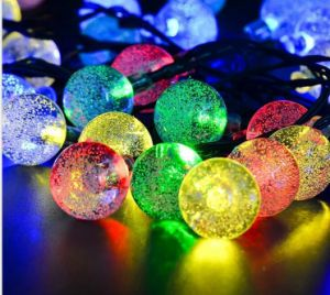 Blinking Decorational LED Light Strip Sun Power Solar Panel Christmas Lights with Low Price pictures & photos
