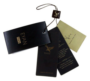 Embossed Cardboard Tag for Clothing / Clothing Tag pictures & photos