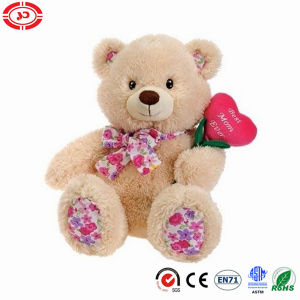 Mother′s Day Teddy Bear with Heart Flower Gift Plush Toy pictures & photos