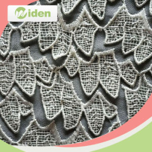 Guipure Lace 100 % Polyester Chemical Trimming Lace Fabric pictures & photos