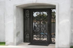 Single Iron Door with Transom pictures & photos