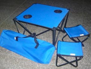 Kids Camping Folding Table with Chairs for Outdoor (MW11038) pictures & photos
