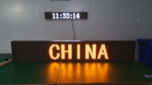 Yellow Color Bus LED Display pictures & photos