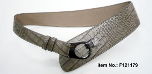 Crocodile Grain Grey Belt pictures & photos
