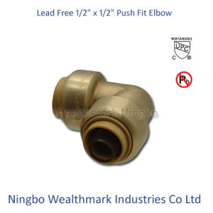 "Lead Free 1/2"" Equal Elbow Push Fit Fitting pictures & photos"