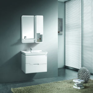 Lavatory off White Lacquer Solid Wood Basin Cabinet pictures & photos