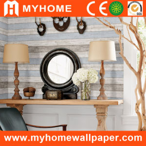 Colorful Wood Texture Wallpaper with PVC Project pictures & photos
