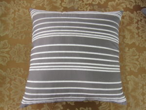 Shutter Pleats Solid Grey Square Pillow pictures & photos