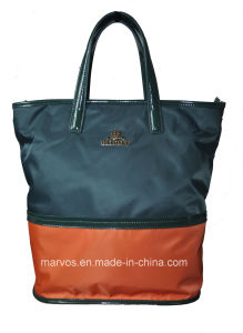 Fabric Handbags with Leather /Tote Fabric Handbags (BS13173) pictures & photos
