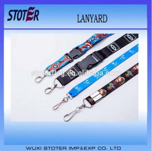 Custom Logo Printed Lanyard with Metal Ring pictures & photos