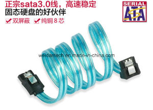 6gbit/S V3.0 Transparent SATA Cable pictures & photos