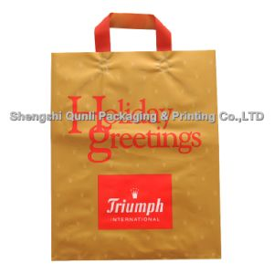 Plastic Bag with Soft Loop Handle (SSQL-PL-A002)