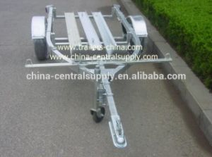 Manufacturer 3.4m Double Motorcycle Trailer for Sale CT0301 pictures & photos