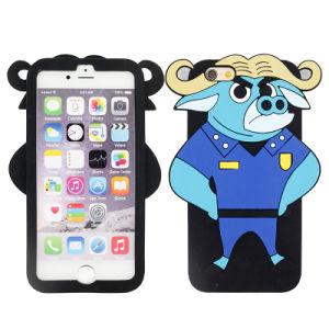 Customized Zootopia African Buffalo 3D Chief Bogo Silicone Cellphone/Mobile Case