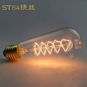 Christmas Tree Edison Bulb, Amber Color Vintage Bulb St64 25W/40W/60W pictures & photos