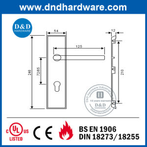 Ss304 Lever Handle with Plate pictures & photos