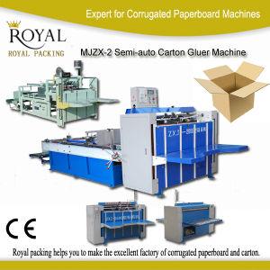 Mjzx-2 Semi-Auto Carton Gluer Machine pictures & photos