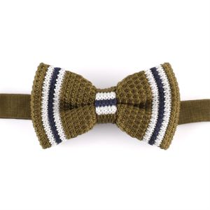 Men′s Fashionable 100% Polyester Knitted Bow Tie (YWZJ99) pictures & photos