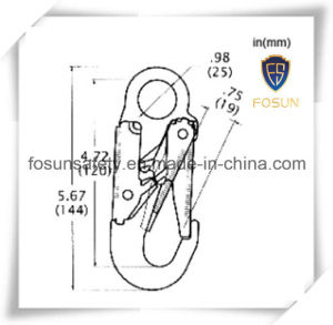 European Stamped Self Locking Snap Hook Used for Safety Belt pictures & photos