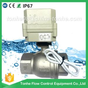 "2 Way Dn40 1 1/2"" Stainless Steel Ss304 Electric Ball Motorized Valve pictures & photos"