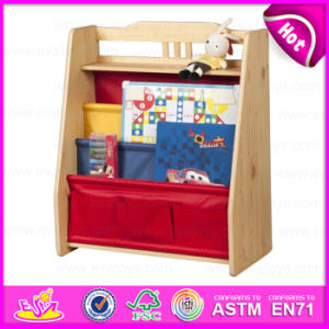 2015 Colorful Kids Wooden Bookshel, Fashion Living Room Furniture Wooden Bookshelf, Portable Children Wooden Book Shelf W08d044 pictures & photos
