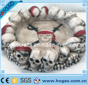 Polyresin Resin Skull Head Ashtray (HG-120) pictures & photos