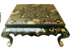 Gold Europe Flower Furniture Luxury Hand Painted Coffee Table
