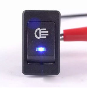 Blue Car 4 Pins DC12V LED Fog Toggle on /off Switch pictures & photos