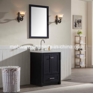"25"" Single Sink Solid Wood Bathroom Vanities in Black pictures & photos"