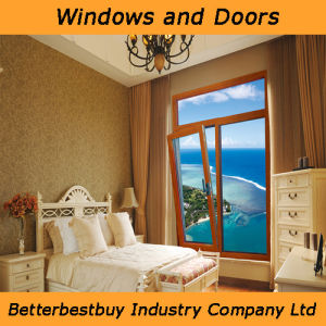 Europe Style Tilt and Turn Aluminum Wood Window pictures & photos