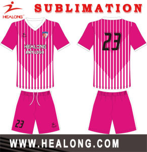 Healong Dri Fit Digitally Printed Unique Soccer Jerseys pictures & photos