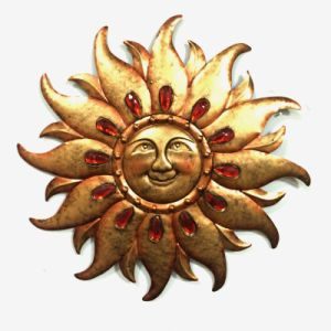 Jewelled Sun Face Metal Wall Decoration for Garden pictures & photos