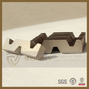 Sunny 24X12X10mm Diamond Segment for Saudi Arabia Riyadh White Stone pictures & photos