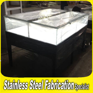 Keenhai Custom-Made Stainless Steel+Glass Display Case for Jewelry pictures & photos