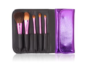 Travel Set Makeup Brushes 5PCS Portable Cosmetic Tool Kit pictures & photos