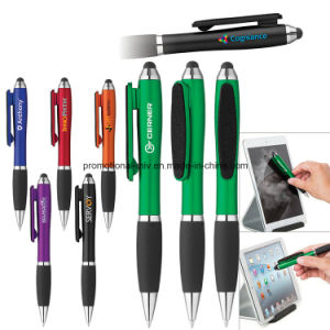 Colorful Stylus Twist Pen with Screen Cleaner for Promotion pictures & photos