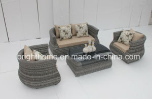 Man-Made Fibre Wicker Sofa Set/Leisure Furniture/Garden Furniture/Outdoor Furniture (BP-897) pictures & photos