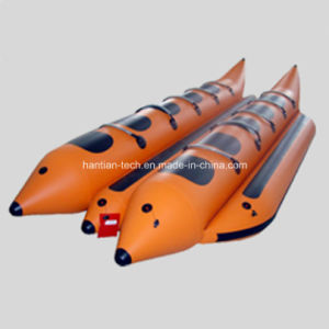 0.9/1.2mm Polyester Fiber PVC Coated Boat Sides Banana Boat pictures & photos